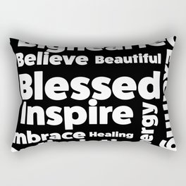 Positive Text board. Rectangular Pillow