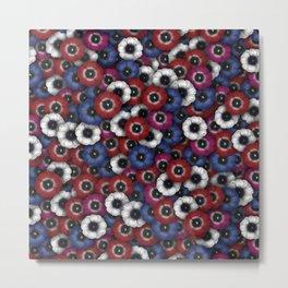 Anemones pattern Metal Print