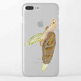 Sea Turtle, Reef Fish Clear iPhone Case