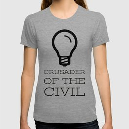 Thinker's Right Logo - Crusader of the Civil T-shirt
