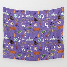 Friends TV Show Tribute Purple Pattern Wall Tapestry