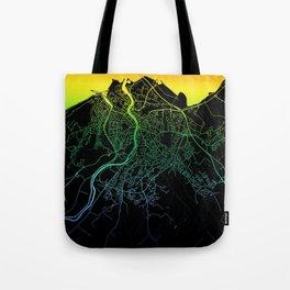 Inverness, Scotland, City, Map, Rainbow, Map, Art, Print Tote Bag