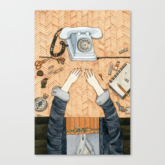 Waiting for a call Canvas Print