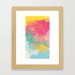 colored explosion Framed Art Print