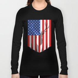 Deer Hunting Flag Long Sleeve T-shirt