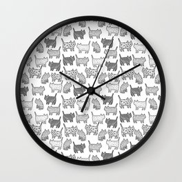 Pattern cats Wall Clock