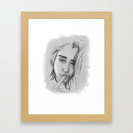 Lauren Gray Sketch Framed Art Print