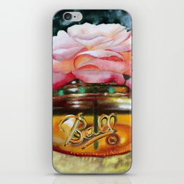 Rose in Amber Mason Ball Glass iPhone Skin