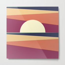 Abstract Sunset 10 Metal Print