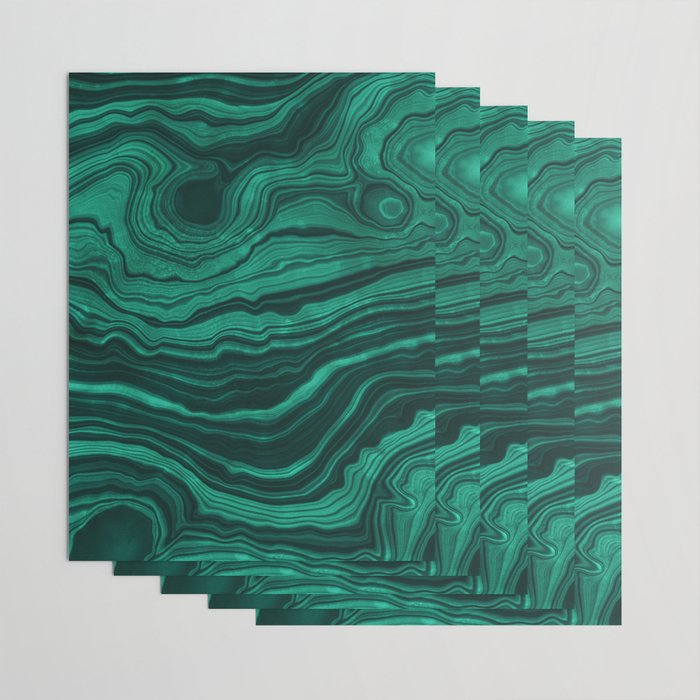 Malachite Texture 01 Wrapping Paper