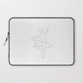 Minimal Drawing of Ballerina Laptop Sleeve