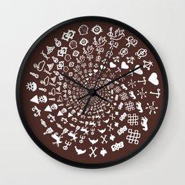 For the Love of Chocolate: Love Symbols Mandala Wall Clock