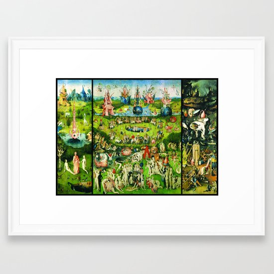 The Garden of Earthly Delights Triptych by Hieronymus ...Bosch Garden Of Earthly Delights Outside