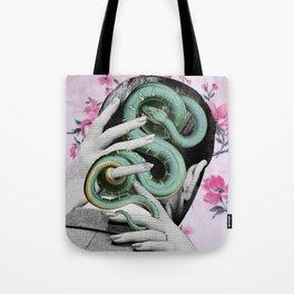 Pink Flowers Tote Bag