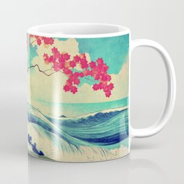 Waking to the Wild and Beautiful Ocean of Dhin Coffee Mug