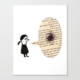 Chat. Canvas Print