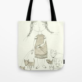 The Dog Walker.  Tote Bag