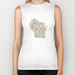 Wisconsin by County Biker Tank