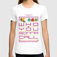 pacman T-shirts featuring pacman ghostbuster by danvinci