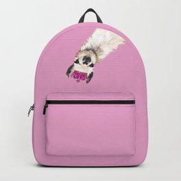 Llama Queen in Pink Backpack