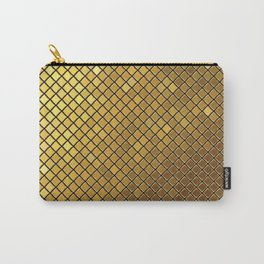 Golden mosaic illustration pattern Carry-All Pouch