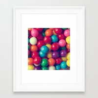 gumball Framed Art Prints featuring Gumball Fun by Amelia Kay Photography