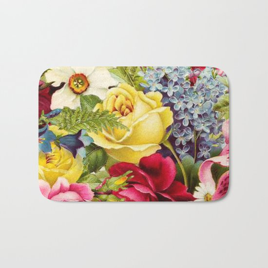 flowers profusion Bath Mat