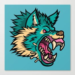 Cold Harsh Wolf Canvas Print