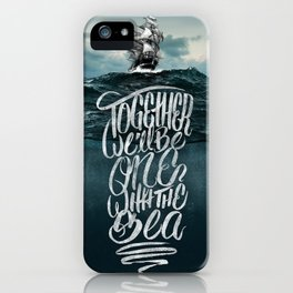One With The Sea iPhone Case