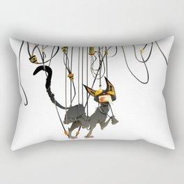"""Lili B. """"Entangled cat"""" Rectangular Pillow"""