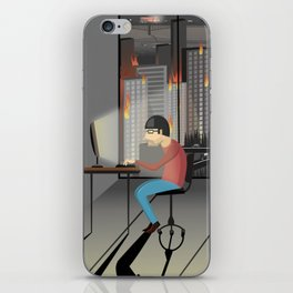 Deep work iPhone Skin