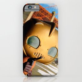 The Rocketeer at the Golden Bridge (USA) Collage Pop! Toy Photography iPhone Case