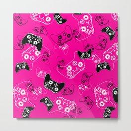 Video Game Pink Metal Print