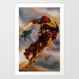 YEAH, I CAN FLY Art Print