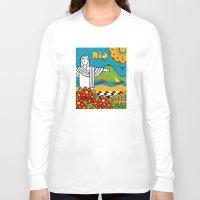rio de janeiro Long Sleeve T-shirts featuring Rio de Janeiro 2015 by Monica Fuchshuber
