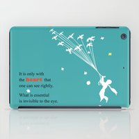 le petit prince iPad Cases featuring LITTLE PRINCE -Le petit prince- art poster by Chara Anagnostopoulou