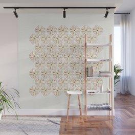Rose Gold Watercolor Tile Wall Mural