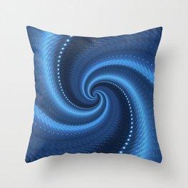 POWER SPIRAL UNIVERSE IN BLUE Throw Pillow