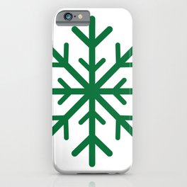 Snowflake (Olive & White) iPhone Case