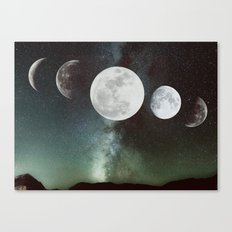 Moon phases Canvas Print