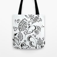 henna Tote Bags featuring Henna by Saintgello
