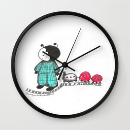 Ant in pajamas Wall Clock