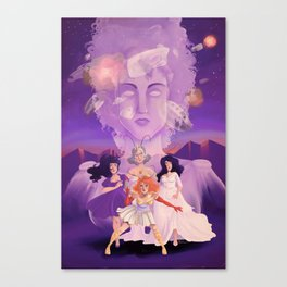 Lesbian Pirates From Outer Space in Fallen Gods Cover Canvas Print