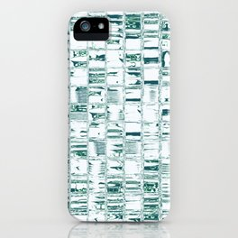 Green glassy look tiles or marble look abstract background design iPhone Case