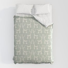 Little Christmas deers pastel pattern Comforters