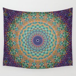 Travel Into Dimensions Mandala. Wall Tapestry