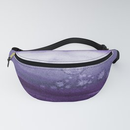 Purple tones and white background Fanny Pack
