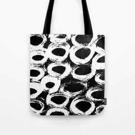 Minimal [4]: a simple, black and white pattern by Alyssa Hamilton Art Tote Bag