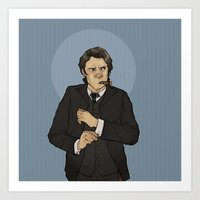 godfather Art Prints featuring godfather sam by cyrrs