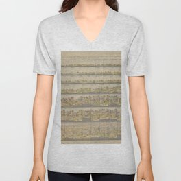 Vintage Print - Map showing altitudes of the French departments (1897) Unisex V-Neck